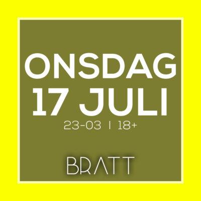 ONSDAGSKLUBB 17 JULI