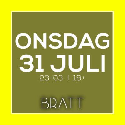 ONSDAGSKLUBB 31 JULI